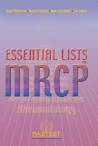 Essential Lists for MRCP By Stuart McPherson
