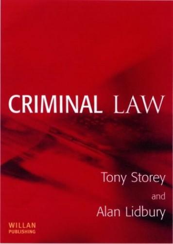 Criminal Law by Tony Storey