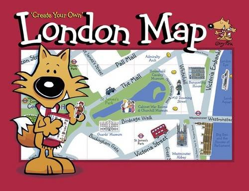 Guy Fox 'Create Your Own' London Map Illustrated by Kourtney Harper