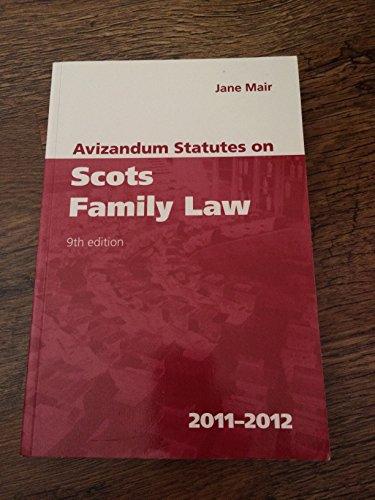 Avizandum-Statutes-on-Scots-Family-Law-2011-2012-1904968473-The-Cheap-Fast-Free