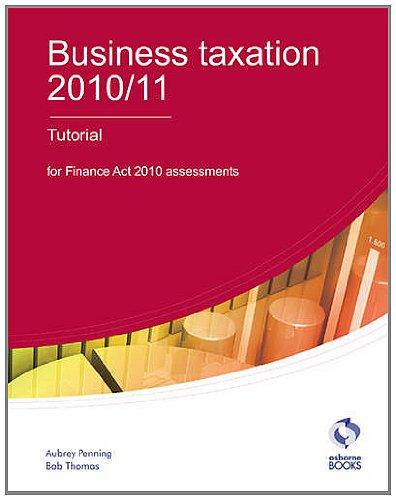 Business Taxation Tutorial By Aubrey Penning