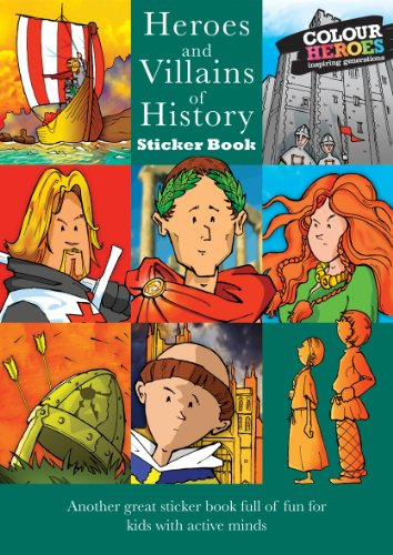 Heroes and Villains Sticker Book (Green) by Lorraine Childs 1906475180 The Cheap