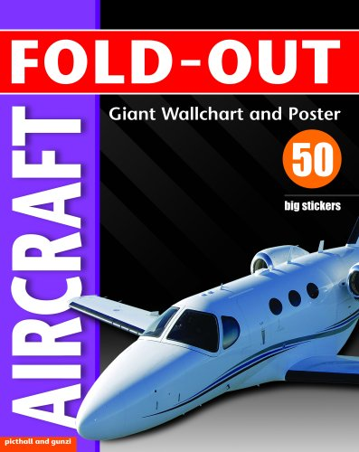 Fold-Out Poster Sticker Book: Aircraft By Paul Calver