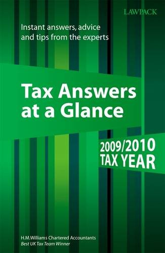 Tax Answers at a Glance By H. W. Williams