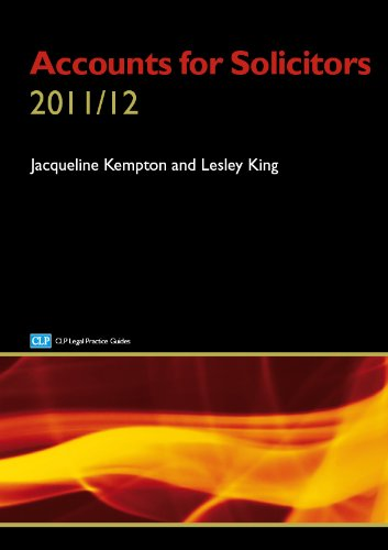 Accounts for Solicitors By Lesley King