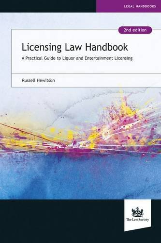 Licensing Law Handbook By Russell Hewitson