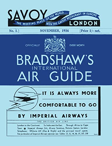 Bradshaw's International Air Guide, 1934 By George Bradshaw