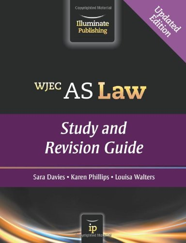 WJEC AS Law: Study and Revision Guide By Sara Davies