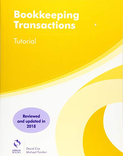 Bookkeeping Transactions Tutorial By David Cox
