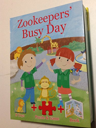 Zookeepers' Busy Day By unknown