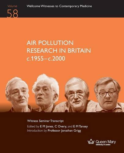 Air Pollution Research in Britain C.1955-C.2000 By E M Jones