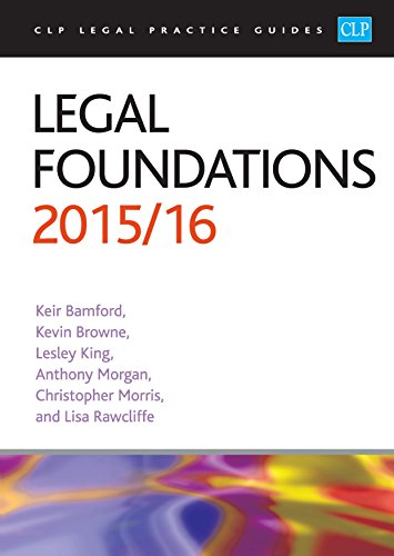 Legal Foundations: 2015/2016 by Kier Bamford