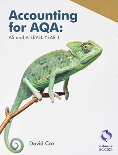 Accounting for AQA : AS and A Level Year 1 By David Cox