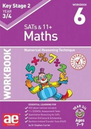 KS2 Maths Year 3/4 Workbook 6 By Stephen C. Curran