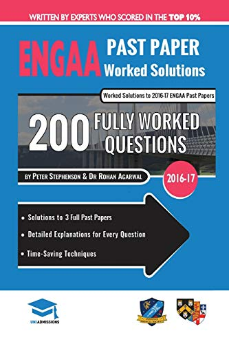ENGAA Past Paper Worked Solutions By Rohan Agarwal