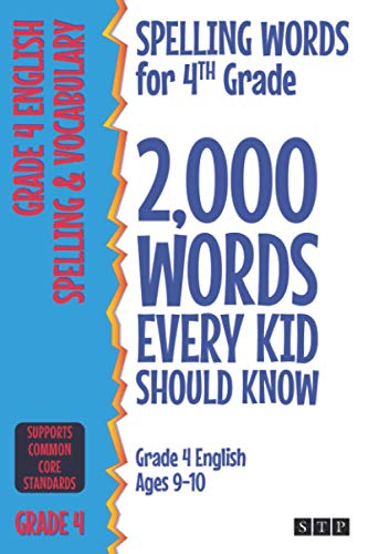 Spelling Words for 4th Grade By STP Books