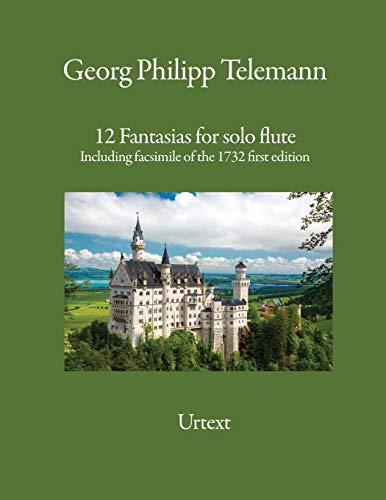 12 Fantasias for solo flute By Georg Philipp Telemann
