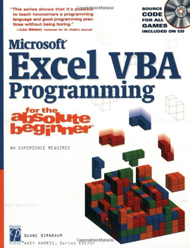 VBA Programming for the Absolute Beginner By Michael Vine
