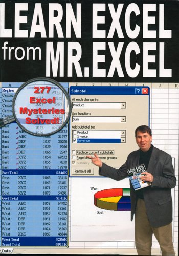Learn Excel from Mr Excel By B. Jelen