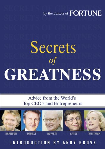 Secrets of Greatness By Fortune Magazine