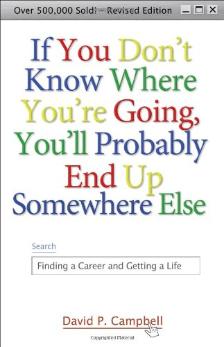 If You Dont Know Where You're Going, You'll Probably End Up Somewhere Else By David P Campbell (Center for Creative Leadership)