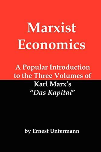 Marxist Economics By Ernest Untermann