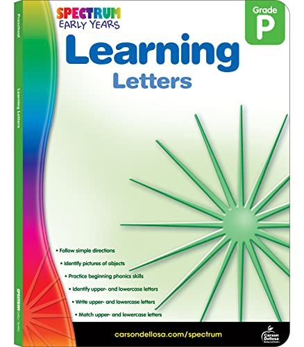 Learning Letters, Grade Pk By Spectrum
