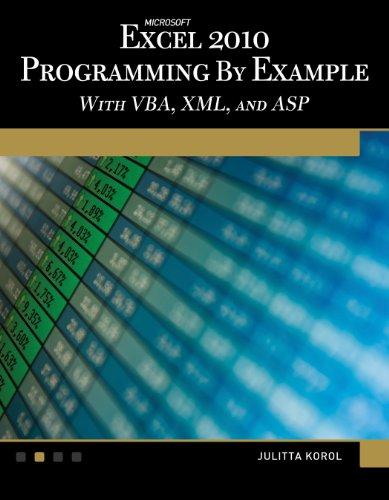 Microsoft Excel 2010 Programming By Example By Julitta Korol
