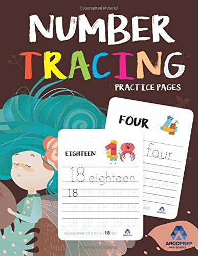 Number Tracing Book for Preschoolers: Ages 3+ and weekly FREE Bonuses By ArgoPrep