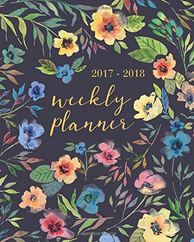 2017-2018 Academic Planner Weekly And Monthly: Calendar Schedule Organizer By Planners and Calendar Notebooks