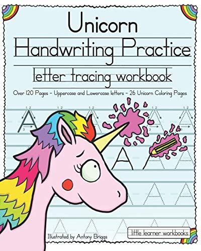 Unicorn Handwriting Practice By Illustrated by Antony Briggs
