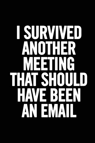 I Survived Another Meeting That Should Have Been an Email By Journals For Everyone