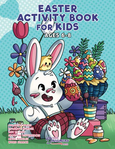 Easter Activity Book for Kids Ages 6-8 By Young Dreamers Press