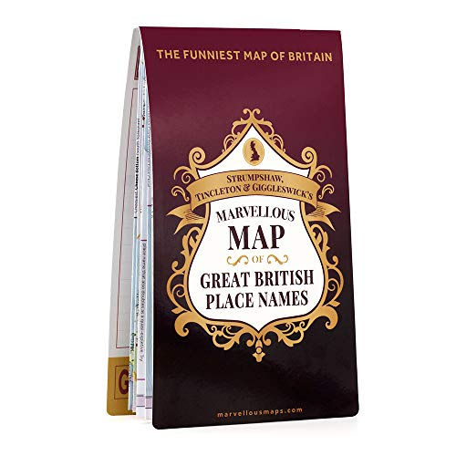 S T & G's Marvellous Map of Great British Place Names By Tincleton & Giggleswick Strumpshaw