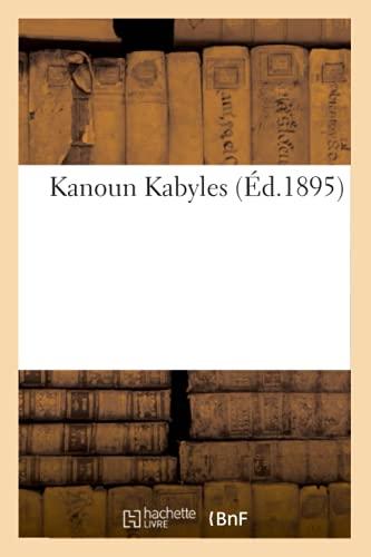 Kanoun Kabyles ( d.1895) By Sans Auteur