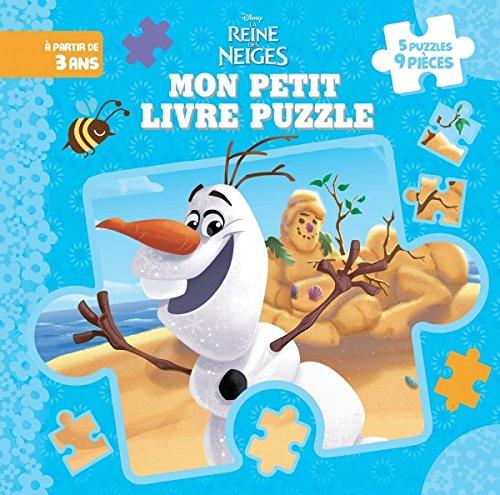 Olaf, La Reine des Neiges, MON PETIT LIVRE PUZZLE (9 Pièces) (HJD PUZZLES) By Hachette Jeunesse