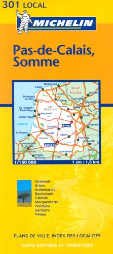 Michelin Map 301 Local Pas-de-Calais, Somme