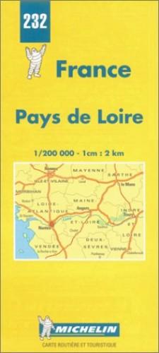 Michelin Map 232 France Pays De Loire By Michelin Travel Publications