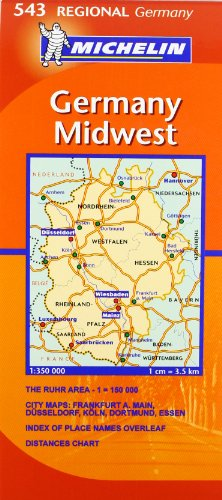 Germany Midwest By Michelin