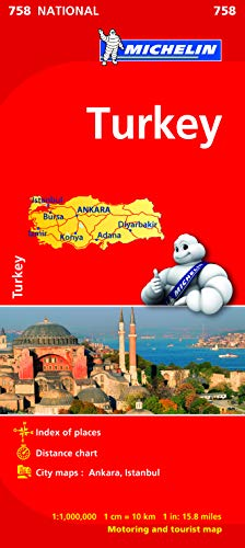 Turkey - Michelin National Map 758 By Michelin