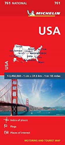 USA - Michelin National Map 761 By Michelin