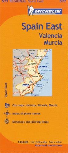 Michelin Spain: East, Valencia Murcia Map 577 By Michelin