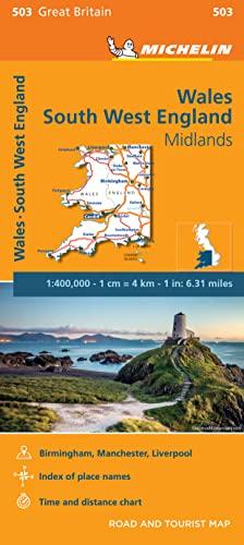 Wales - Michelin Regional Map 503 By Michelin