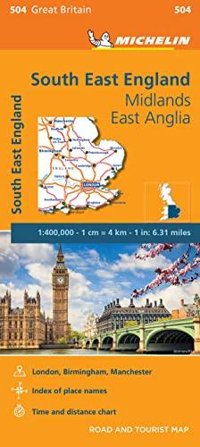 South East England - Michelin Regional Map 504 By Michelin