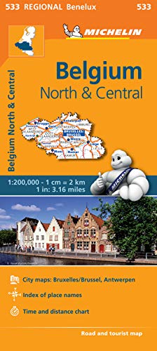Belgium North & Central - Michelin Regional Map 533 By Michelin