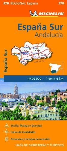 Andalucia - Michelin Regional Map 578 By Michelin