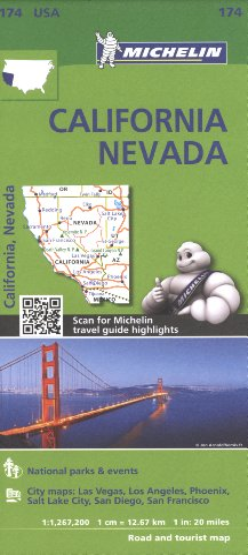 Michelin USA California, Nevada Map 174 By Michelin
