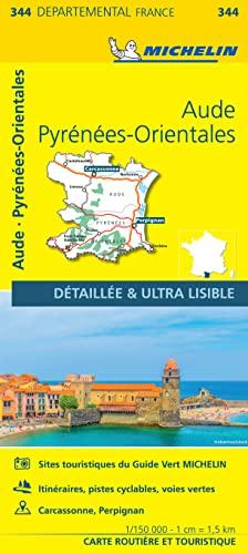 AUDE / PYRENEES - ORIENTALES 11344 CARTE ' LOCAL ' ( France ) MICHELIN KAART By Michelin