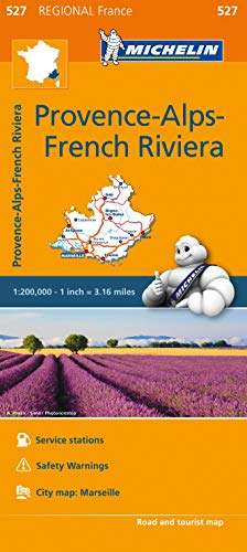 Provence- Alps - French Riviera - Michelin Regional Map 527 By Michelin