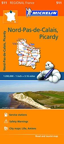 Nord-Pas-de-Calais, Picardy - Michelin Regional Map 511 By Michelin